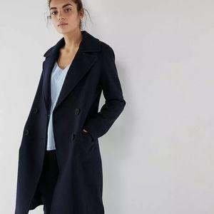 BNWT Express Long Double Breast Wool Coat